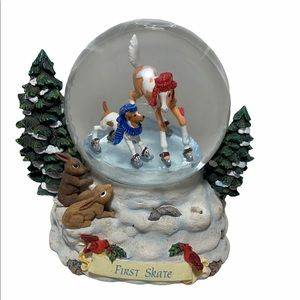 Breyers First Skate Snowglobe (READ)